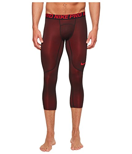Nike Men's Three Quarter Colorburst Tights (University Red, ()