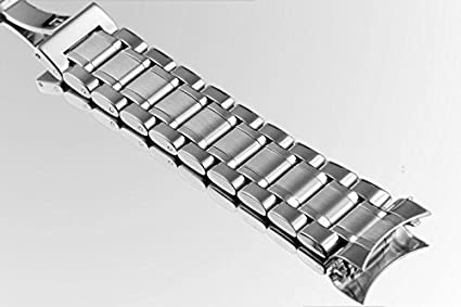 18mm High-end Oyster Style 316L Stainless Steel Watch Bands Replacements with Both Curved and Straight Ends | Amazon.com