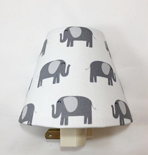 Elephants Plug In Night Light / Nursery Decor / Baby Shower Gift / Home Decor / Kid's Room / Lighting / Hallway Light / Housewarming / Elephant / Safari