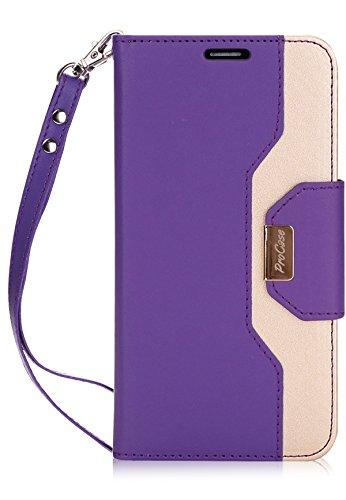ProCase Wallet Case for LG V30, Folio Folding Flip Case with Credit Card Slots Wristlet Kickstand for LG V30 / LG V30 Plus/LG V35 / LG V35 ThinQ (2017), LG V30S ThinQ(2018) -Purple