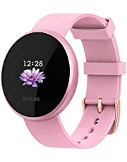 Women Smart Watch Fitness Tracker, Heart Rate Monitor Watch with Color Screen, IP68 Waterproof Auto Wake Screen Smartwatches for Men Women