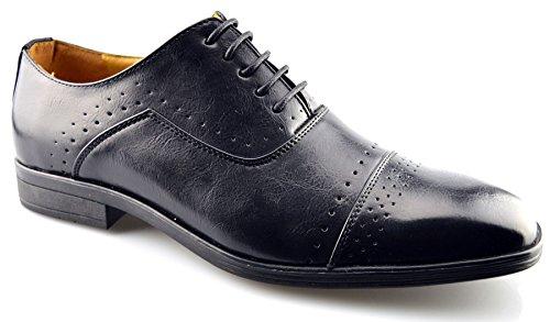 Chaussures Habillées En Cuir Synthétique Pour Homme Classique 7 Noir