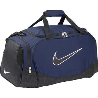 NIKE Brasilia 5 Small Duffle Grip Bag, Navy/Black