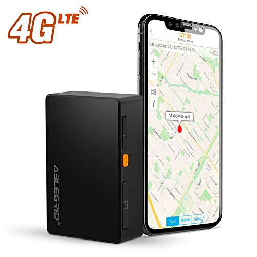 ABLEGRID GPS Tracker 4G LTE, 3400mAh 15 Days Real-time GPS Tracking Device for Vehicles and Persons Portable Hidden Magnetic Mini GPS Locator Tracker for Cars - with Global SIM Card
