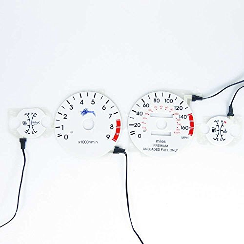 BAR Autotech for Mitsubishi Eclipse 95-99 Turbo EL Glow Gauge White face