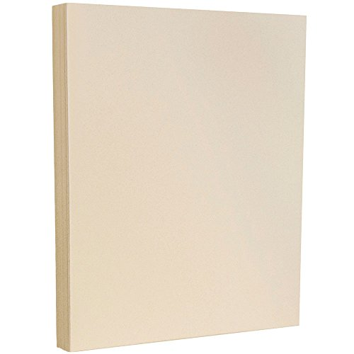 JAM PAPER Recycled 80lb Cardstock - 8.5 x 11 Letter Coverstock - Passport Gypsum Ivory - 50 Sheets/Pack ()