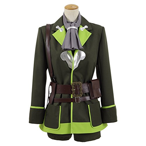 Pinocchio Uniform Cosplay Cstume Halloween Outfits (Women XS, Green) (Halloween Cstume)