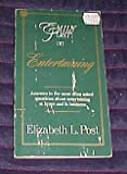 Emily Post on Entertaining, Elizabeth L. Post, 0062740067