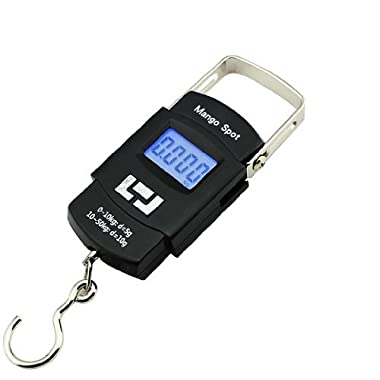 Mango Spot LCD Electronic Balance Digital Fishing Hook Hanging Scale 50kg, 10g