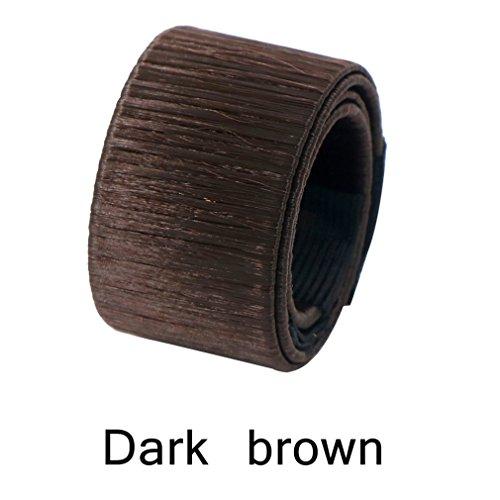 8PCS Hair Bun Maker Tools Magic Hair Bun Shapers For Hair Styling Dark Brown by Cutute