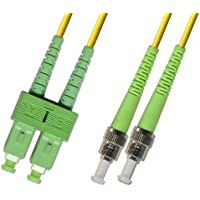 5M - Singlemode Duplex Fiber Optic Cable (9/125) - SC/APC to ST/APC