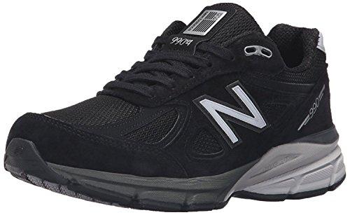 New Balance Womens w990v4 Running Shoe, Negro/Plateado, 45.5 W EU/11 W UK