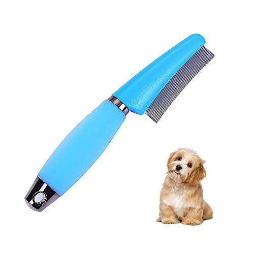 Chinchilla Rabbit Bunny Dog Cat Small Pet Grooming Comb Shedding Brush Stainless Steel Flea Brush Pet Hair DeShedding…