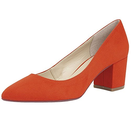 Toe Orange Pumps Closed WoMen Briars Lotus qnFXtE