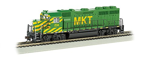Bachmann Emd GP-40 Locomotive-MKT #234, Multi Color, HO Scale