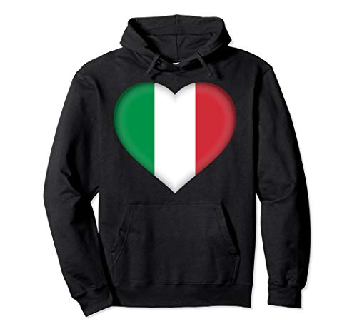 I Love Italy Hoodie | Italian Flag Heart Outfit