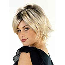 Wholesale 2015 Free Shipping Hot Sale Short Synthetic Blonde Hair Wigs with Bangs for Women Classically Beautiful Wig