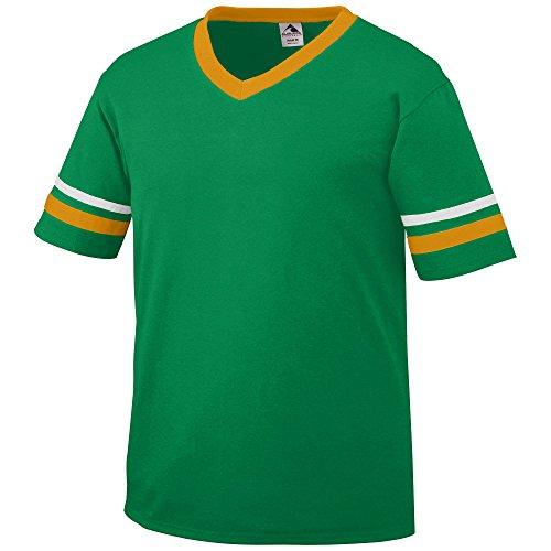 Augusta Sportswear Men's Sleeve Stripe Jersey, Kelly/Gold/White, Large (Frauen In Augusta)