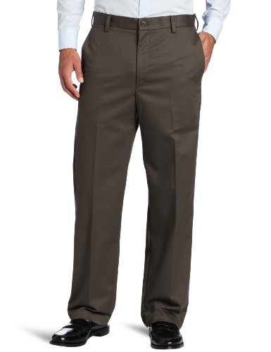 IZOD Men's American Chino Flat Front Straight-Fit Pant, Oliv