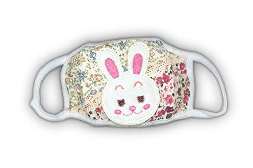 Masque d'allergie de l'enfant - souriant lapin (les couleurs peuvent varier)