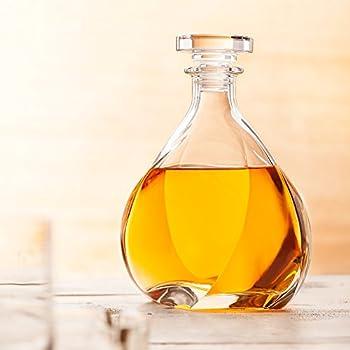 "Twist Whiskey Decanter ""Lismore"" with Stopper - Liquor Decanter - Unique Elegant Design - Dishwasher Safe Glass - Italian Design - 24 oz. (700ml)"