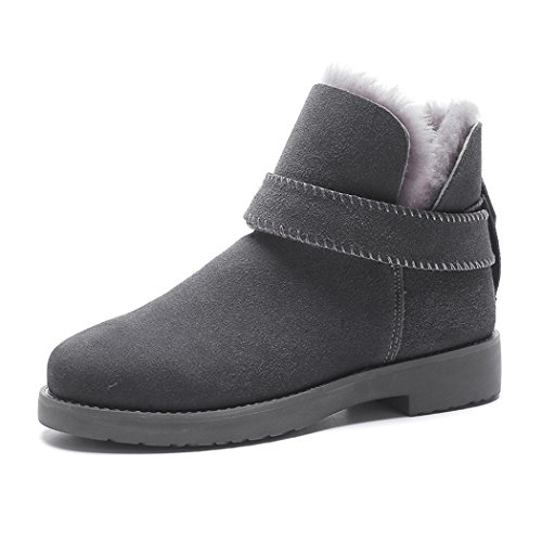 Ankle Gray Snow Winter Women's Ladies Boots Boots Lined Fleece Warm Fully S7qP87