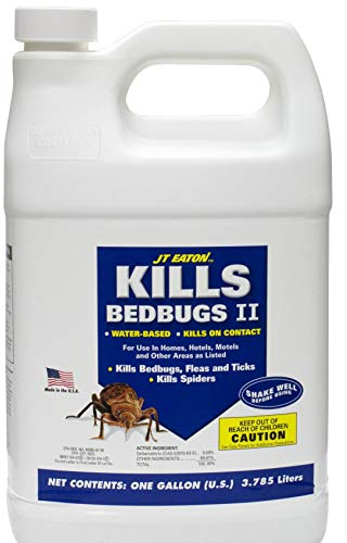 JT Eaton 204-O1GP Kills Bedbugs Oil Based Kills Bedbug Spray with Sprayer Attachment, 4 Gallon Container Professional Label by J T Eaton
