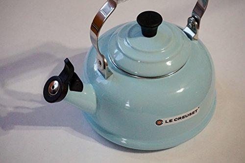 Cheap Le Creuset Enamel-on-Steel Whistling 1.7 Quart Teakettle, Sky Blue