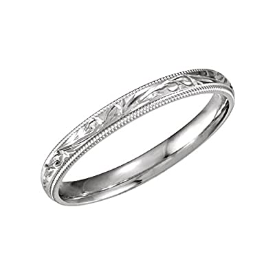 Bonyak Jewelry 14k White Gold 3mm Comfort-Fit Band - Size 5 supplies