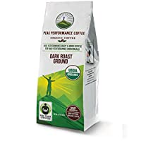 Peak Performance High Altitude Organic Coffee. High Performance Body and Mind Coffee for High Performance Individuals. Fair Trade Beans Full of Antioxidants. USDA Organic Dark Roast Ground Coffee