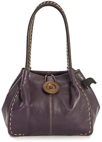 Big mujer al Deep Purple PU Bolso 4 Grade sintético Handbag de Shop One para hombro UqrUZn
