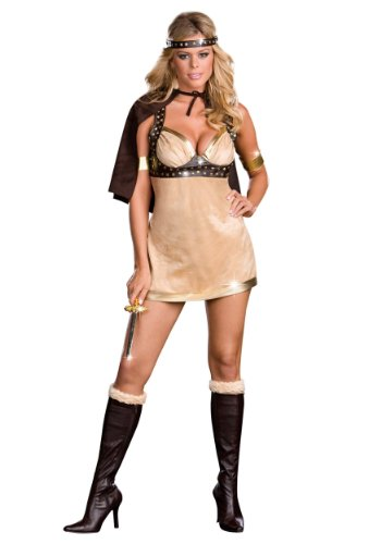 Sexy Viking Warrior Costumes (Dreamgirl Sexy Adult Viking Warrior Goddess Halloween Costume S (Small))