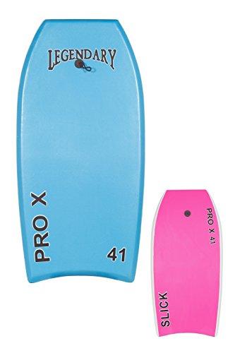 Girls Boogie Board - GYN Trade Heat Sealed Legendary Pro X Bodyboard Hard Slick Printed (Light Blue/Pink, 41