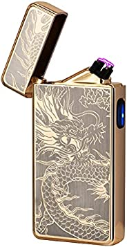 Electric Lighter,Dual Arc Plasma Lighter USB Rechargeable Lighter Electronic Windproof Lighter Cool Flameless