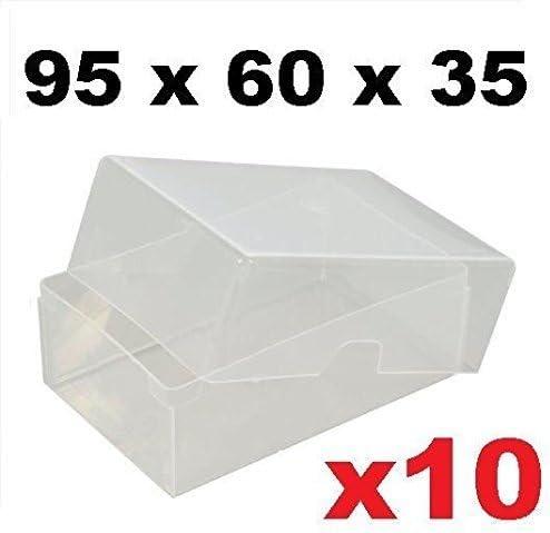 x10 cajas de plástico transparente tarjeta de visita 95 mm x 60 mm ...