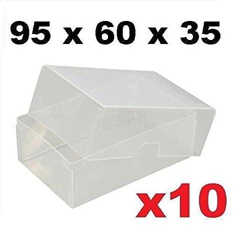 10 Xnbspboitiers En Plastique Transparent Pour Carte De Visite 95 X 60