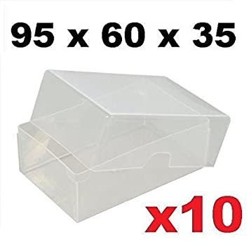 X10 clear plastic business card boxes 95mm x 60mm x 35mm holds up x10 clear plastic business card boxes 95mm x 60mm x 35mm holds up to 125 reheart Images