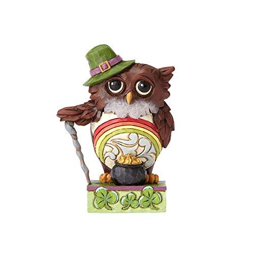 Jim Shore Heartwood Creek by Enesco Mini Irish Owl Figurine 3.5 - Jim Holiday
