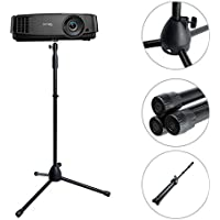 Projector Stand ,Portable Adjustable Tripod Mount Floor Stand Holder with 360°Swivel Ball Head for Mini Projector ,Camera , Webcam , Gopro ( Height 29.5 to 55.1)