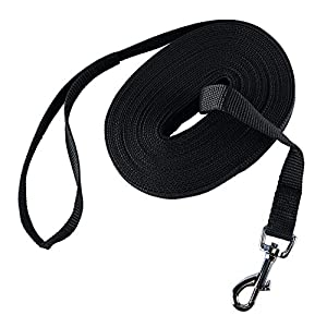 HAPPY HACHI Dog Training Lead Long Rope Cotton Nylon Webbing Recall Obedience Line Leash for Pet 23