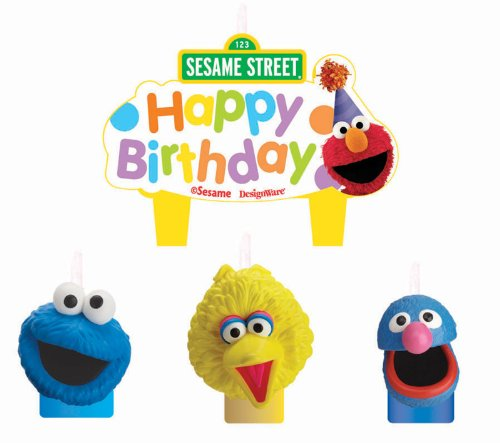 Amscan 220684 Sesame Street Party Molded Cake Candles (Sesame Street Candles)