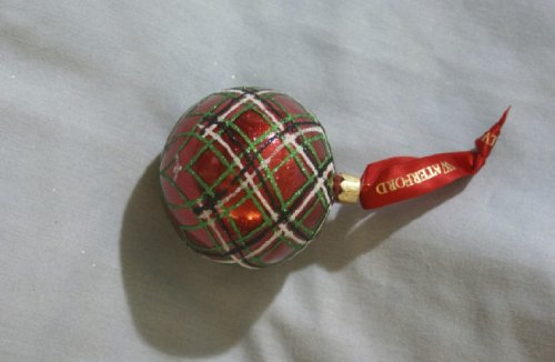 (Waterford Holiday Heirlooms Plaid Glitter Ornament)