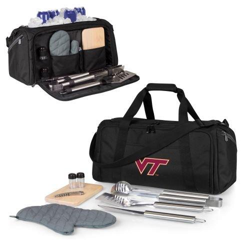 NCAA Virginia Tech Hokies Picnic Time BBQ Kit Cooler Tote with Barbecue & (Virginia Tech Salt)