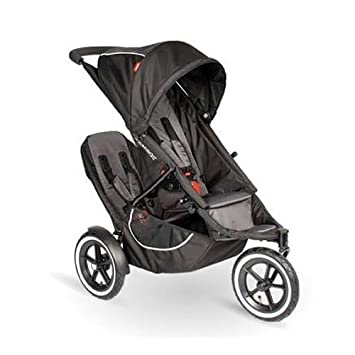 Phil Teds Classic Stroller With Double Kit Black