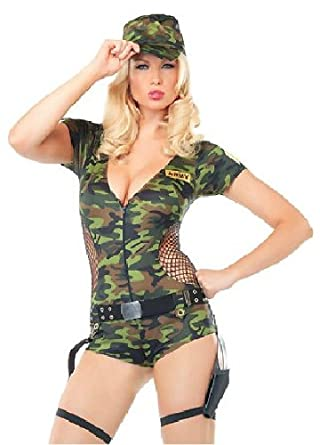 amazoncom bellus womens sexy soldier halloween costume size medium adult exotic costumes clothing - Exotic Halloween Costume