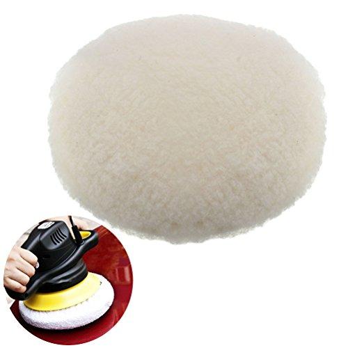 - UEETEK 180mm Lambswool Polishing Pad,Hook and Loop Lambswool Bonnet for Car Polisher
