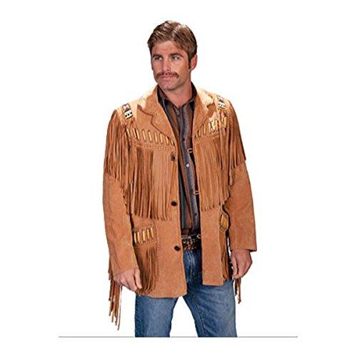 [スカーリー] メンズ ジャケット&ブルゾン Fringe Leather Jacket 902 Long [並行輸入品] B07DHMKNN8 42