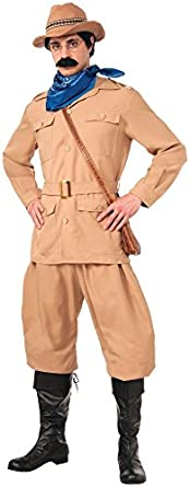 Men's 1900s Costumes: Indiana Jones, WW1 Pilot, Safari Costumes Theodore Roosevelt Deluxe Costume $74.98 AT vintagedancer.com