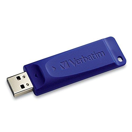 Verbatim Classic USB 2.0 Flash Drive, 128GB, Blue -VER98659