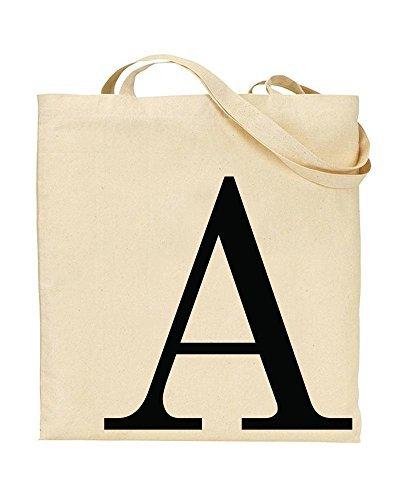 8af0a1df3 Amazon.com - A - First Initial - Alphabet Funny Canvas Shopping Bag ...